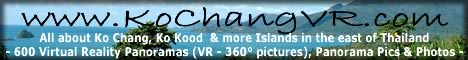 www.KoChangVR.com - Virtual travel & island guide about Ko Chang, Ko Kood, Ko Wai & more islands between Bangkok, Pattaya & Cambodia in the Gulf of Thailand. Virtual Reality Panoramas (360° pictures), panorama pictures, photos, maps & information about all beaches, bays, sights & more - plus Angkor Wat & Cambodia Special